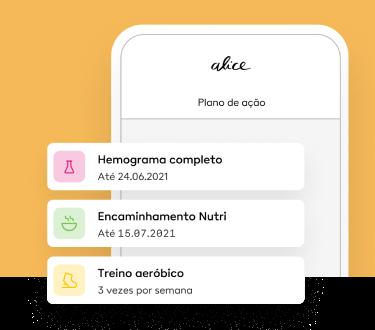Imagem do plano de ação para atingir as metas de saúde.