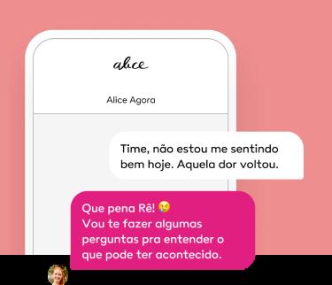 Imagem do atendimento via chat do aplicativo da Alice.
